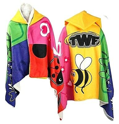 Twf Children Kids Boys Girls Hooded Beach Poncho Towel Changing Robe Bath Towels