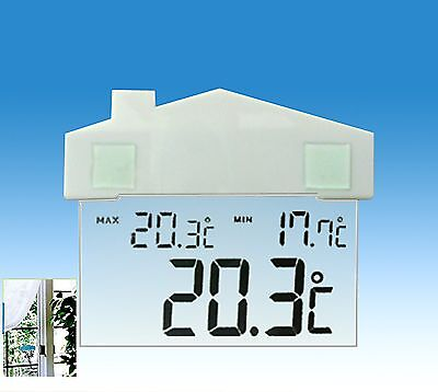 Indoor Outdoor Window Thermometer Weather Station Temperature Test Measure Lcd