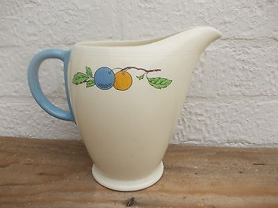 Art Deco 1950's Grindley Jug Fruit Pattern Flower Vase