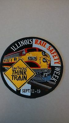 Illinois Rail Safety Patch - See Tracks Think Train!