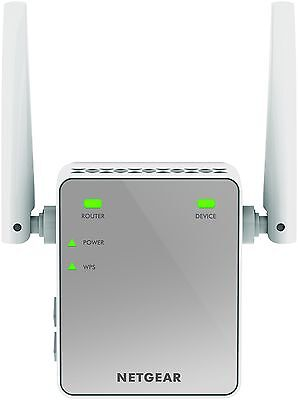 NETGEAR Mini N300 Mbps Wi-Fi Range Extender with External Antennas Wifi Boost