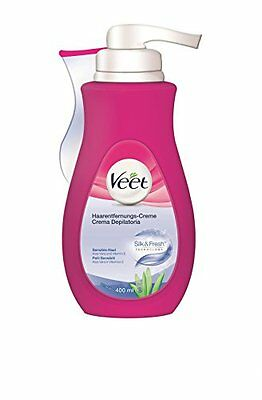 Veet Crema Depilatoria Silk & Fresh Technology Pelli Sensibili, 400 ml