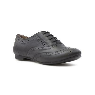 Womens Brogue Shoe Lace up Brogue Shoe in Black by Lilley