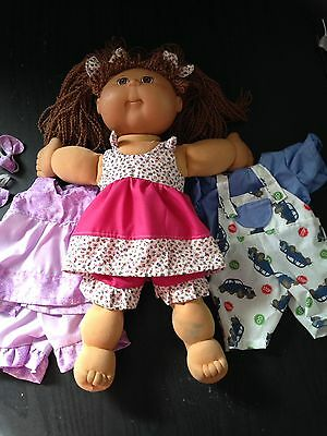 Homemade Cabbage Patch Two Piece Sets With Bonus Hair Ties - 3 Pattern Choices