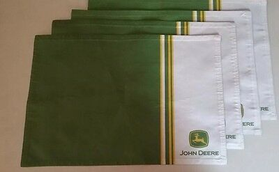 John Deere cloth Placemats, Green, white, tractor new in package