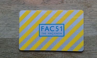 Fac 51 Hacienda Original Membership Card Unused Condition Factory Records