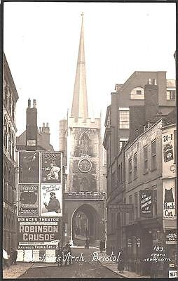 Bristol St. John Arch..  1918 Hepworth#199 Real Photo Postcard.