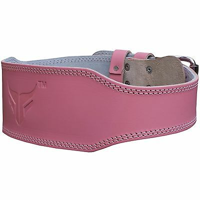 Mytra Fusion Unisex 4 inch Leather courted power lifting belt Pink weight belt