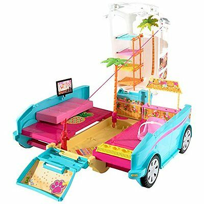 Official Barbie Ultimate Puppy Mobile Deluxe Transformable Toy Playset