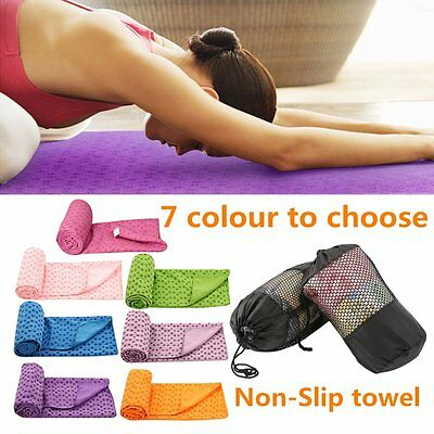 Sport Fitness Travel Exercise Yoga Mat Cover Towel Blanket Non-Slip Pilates SY
