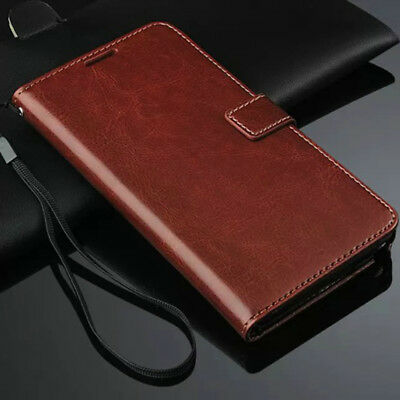 For Samsung Galaxy Note 3 Genuine Leather Flip Wallet Case Cover Pouch BROWN