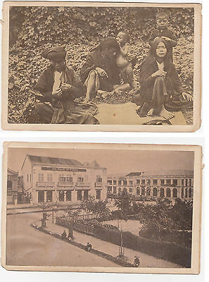 1880s INDOCHINA Women & children delousing & HANOI town PHOTO 's Vietnam Saigon