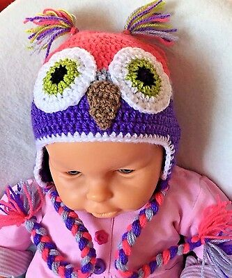 ***Girl's  OWL Crochet Hat***