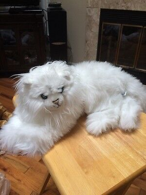 Vintage Douglas Fancy Feast White Persian Plush Stuffed Animal Cat Fluffy Kitty