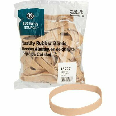 "Rubber Bands Business  Source Size: #107 - 7"" L x 0.63"" W -  1 lb 15727"