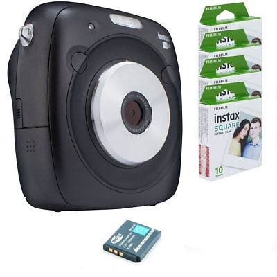 Bundle: Fuji Instax SQ10 Instant Film & Digital Camera Hybrid + Case + 40 Shots