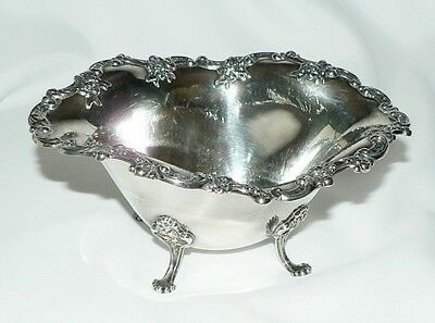 Vintage Antique Towle Sterling Silver Footed Sauce Boat Ornate Roses Garland