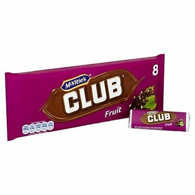 Jacob's Fruit Clubs Multipack 8 x 24g