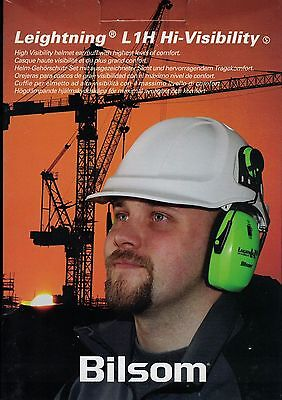 Bilsom Leightning L1H Hi-Visibility Hard-hat Mounted Ear muffs Helmet Attachable