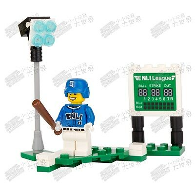 CS 3 Custom minifigure - Baseball player fielder Blue Uniform