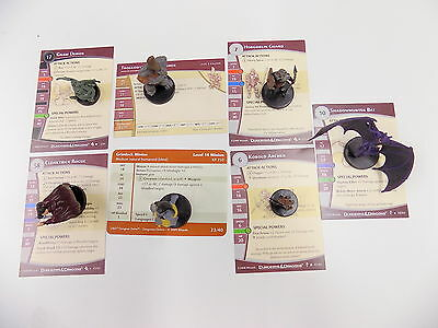 Dungeons & Dragons Miniatures Game COLLECTION  7 FIGURES See List Wizards 41828
