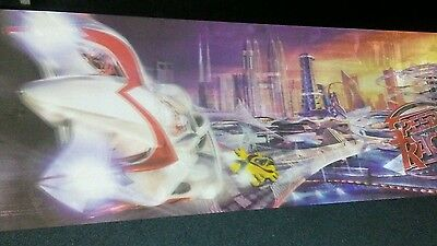 3D action Speed Racer Mattel toy Display Board from movie. 2006 Hard to acquire