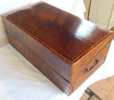 """REGENCY"". Mahogany Writing Slope with Secret Drawer & Cribb Board  c1810"