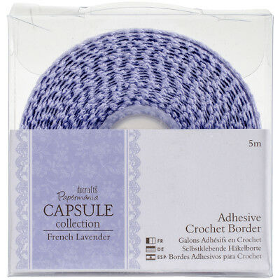 Papermania French Lavender Adhesive Crochet Border 5m  PM358306
