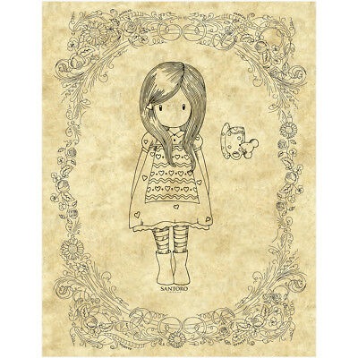 Gorjuss Santoro Rubber Stamp The Little Friend GO907215