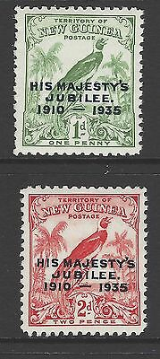 New Guinea Kgv 1935 Silver Jubilee Set Mnh Good Condition