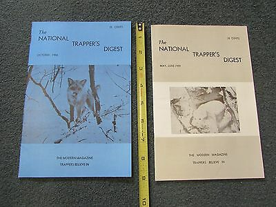 1958, 1959  NATIONAL TRAPPER'S DIGEST, 2 magazines  VG+