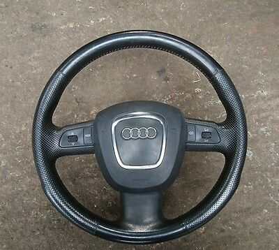 AUDI A3 8P A4 b7 MULTIFUNCTION LEATHER STEERING WHEEL 8P0419091BL