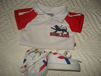 Build a Bear England Shirt and Trainers ,good clean condition.