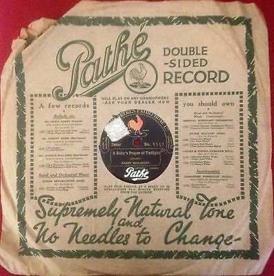 PATHÉ 10 inch Double Sided 78 rpm Record No.1111 - Vertical Cut