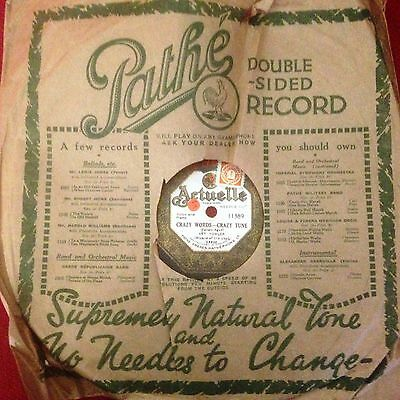 PATHÉ Actuelle 10 inch Double Sided 78 rpm Record 11389 Art Fowler