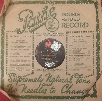 PATHÉ 10 inch Double Sided 78 rpm Record No.1592 - Vertical Cut