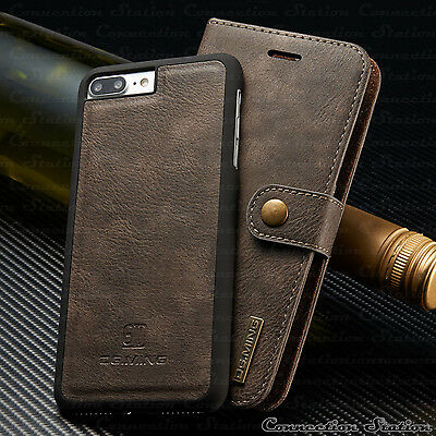 Leather Removable Wallet MagnetiC Card Case Cover iPhone XS MAX X/8/7/6s Plus