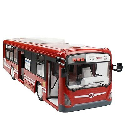 Hugine 2.4G RC Bus With Opening Doors And Realistic Sounds 6 Channel Remote C...