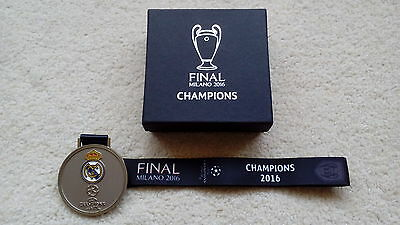 Authentic Real Madrid Champions League Final Milano 2016 Winners Medal Not Badge