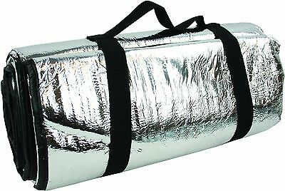 Highlander Padded Reflective Thermo Survival Blanket Mens Silver One Size