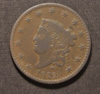 1822 Large Cent -- Very Good Details
