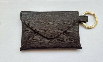 NEW Aspinal Of London Keyring Envelope Pouch Textured -Leather Keyring