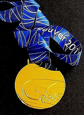 2010 Vancouver Winter Olympics Gold Medal With Silk Ribbon