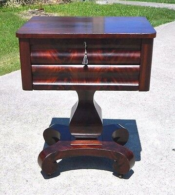 Mahogany Empire two Drawer Work Table