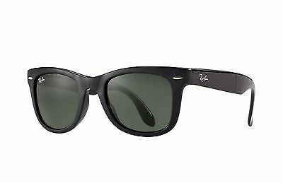 Ray-Ban RB4105 Wayfarer Folding 601 Black Frame/Green Classic G-15 Lens 54mm