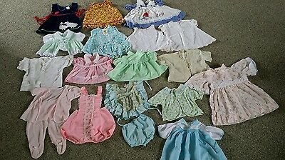 20 Vintage baby girl clothes lot 50's- 60's sizes 0-12 months ? Alexis Mayfair &