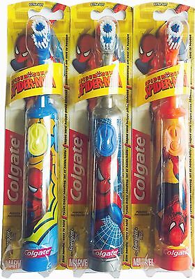 Colgate Spider-Man 3+ Years Battery Operated kids Children Toothbrush-Extra Soft