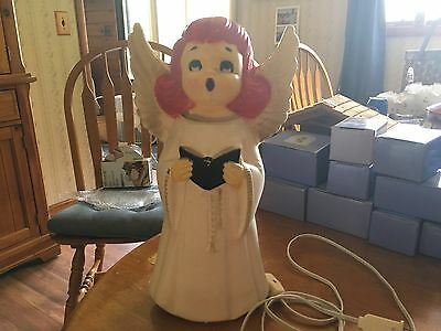 Vintage Red Haired Choir Girl Angel Lighted Blow Mold