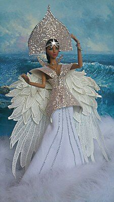 Dress Russian fairy tale, attire princess, outfit barbie, fashion royalty outfit