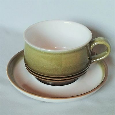 Vintage Denby Pottery Rochester Cup & Saucer - Stoneware - Breakfast Tea Coffee
